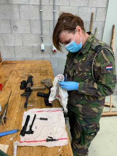 27 maart 2021 weekverslag Jaarlijks Oefen Programma (JOP) Militaire Basis Vaardigheden (MBV) op Vlb Gilze-Rijen Saskia van Ommen