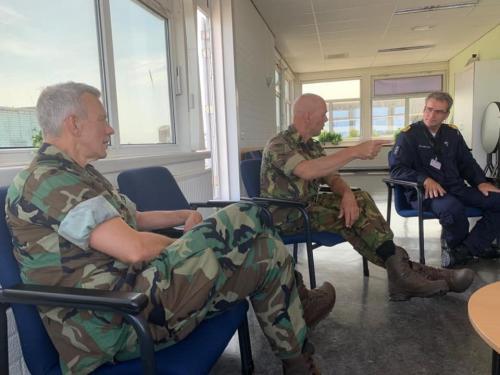 4 juni 2020 bezoek bij de Marine school in den Helder