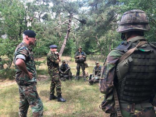 7 juli 2021 Op de KMS, Koninklijke Militaire School, in Ermelon site