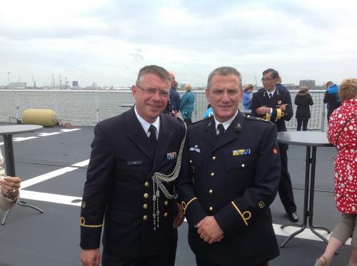 Met Martin van Daalen tijdens VIP-vaardag op de Zeeland