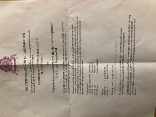 Functieoverdracht 2 september 2020