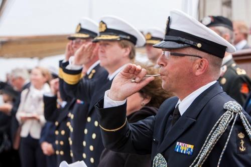 Vlootschouw Den Helder afgenomen door ZKH Willem Alexander tijdens Sail